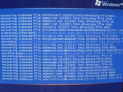 ファイル破損のメッセージ